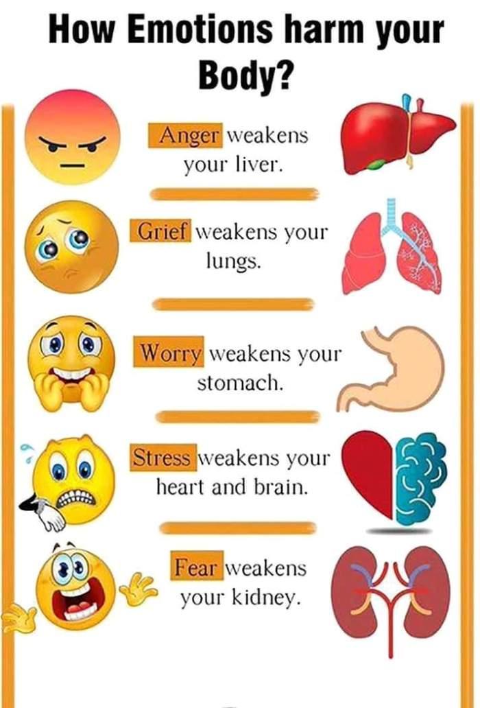 Emoties - schade in het lichaam